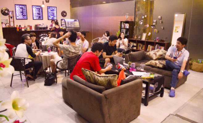 SMEAGキャピタルのカフェ